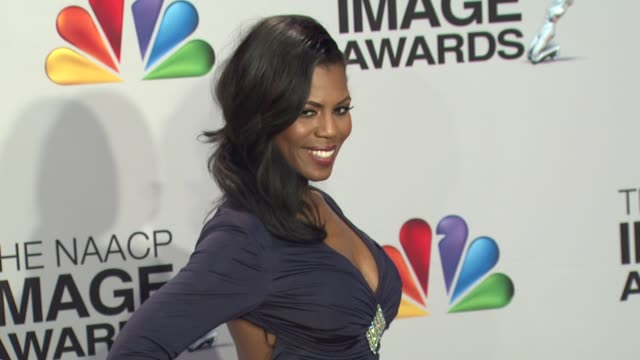 omarosa manigault at 44th naacp image awards photo room on 4/12/13 in los angeles ca - omarosa manigault newman stock videos & royalty-free footage