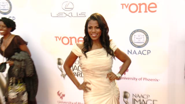 stockvideo's en b-roll-footage met omarosa manigault at the 46th annual naacp image awards arrivals at pasadena civic auditorium on february 06 2015 in pasadena california - pasadena civic auditorium
