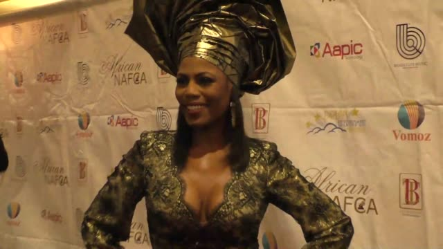 omarosa manigault at the nollywood and african film critics' awards at the orpheum theatre in los angeles at celebrity sightings in los angeles on... - omarosa manigault newman stock videos & royalty-free footage