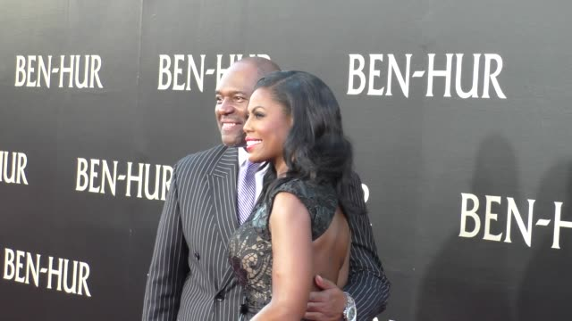 omarosa manigault john allen newman at the premiere of paramount pictures' benhur at tcl chinese theatre in celebrity sightings in los angeles - omarosa manigault newman stock videos & royalty-free footage