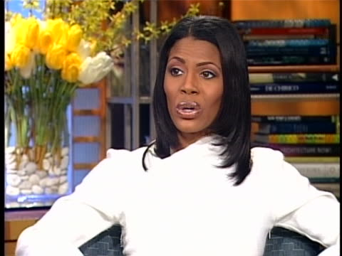 omarosa manigault speaks about her goal for being on the apprentice during an interview on march 5, 2004. - omarosa manigault stallworth stock-videos und b-roll-filmmaterial