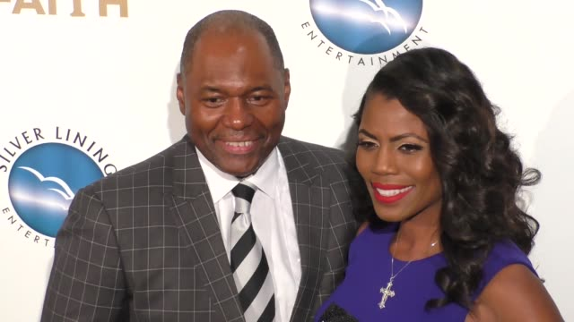 omarosa manigaultnewman john newman at the premiere of pure flix entertainment's 'a question of faith' on september 27 2017 in los angeles california - omarosa manigault newman stock videos & royalty-free footage