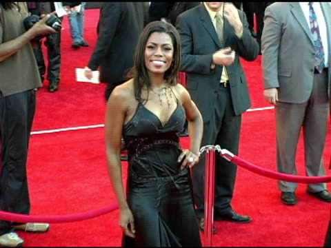 omarosa manigaultstallworth at the 2004 american music awards red carpet at the shrine auditorium in los angeles california on november 14 2004 - omarosa manigault newman stock videos & royalty-free footage
