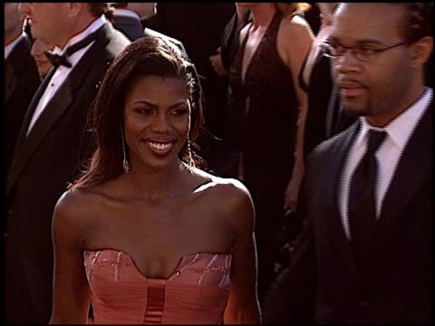 omarosa manigaultstallworth at the 2004 emmy awards arrival at the shrine auditorium in los angeles california on september 19 2004 - omarosa manigault newman stock videos & royalty-free footage