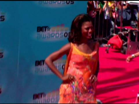 omarosa manigault-stallworth at the 2005 bet awards arrivals at the kodak theatre in hollywood, california on june 28, 2005. - omarosa manigault stallworth stock-videos und b-roll-filmmaterial