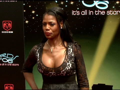 omarosa manigaultstallworth at the 2006 bet awards arrivals at the shrine auditorium in los angeles california on june 27 2006 - omarosa manigault newman stock videos & royalty-free footage