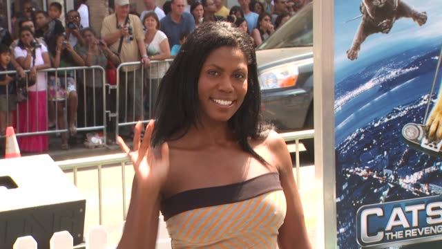 omarosa manigaultstallworth at the 'cats dogs the revenge of kitty galore' premiere at hollywood ca - omarosa manigault newman stock videos & royalty-free footage