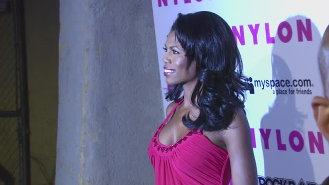 omarosa manigaultstallworth at the nylon magazine myspace 3rd annual collaborative music issue at los angeles california - omarosa manigault newman stock videos & royalty-free footage