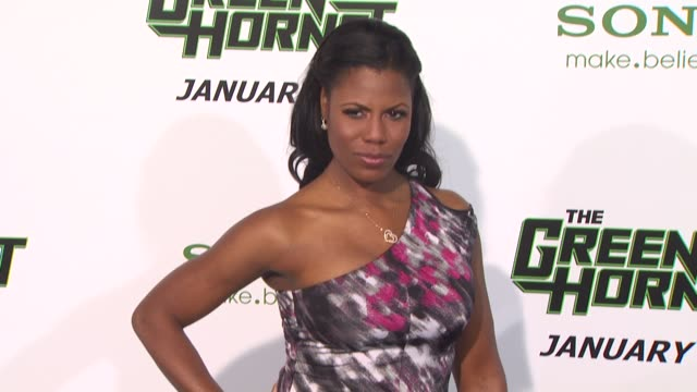 omarosa manigaultstallworth at the 'the green hornet' premiere at hollywood ca - omarosa manigault newman stock videos & royalty-free footage