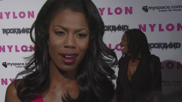 omarosa manigaultstallworth on what she likes about nylon magazine what music she's listening to who she communicates with on myspace at the nylon... - omarosa manigault newman stock videos & royalty-free footage