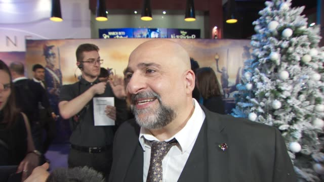 interview omid djalili on how fits in on the nutcracker and his singing in mamma mia 2 at the nutcracker and the four realms gala screening on... - the nutcracker named work stock videos & royalty-free footage