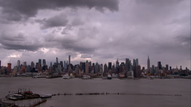 Ominous Clouds Over the Manhattan Skyline
