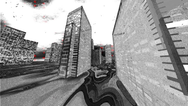 ominous gray city-scape - artbeats stock videos & royalty-free footage