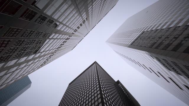 vídeos y material grabado en eventos de stock de ominous new york manhattan skyscrapers - wall street