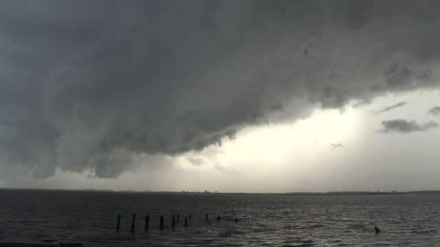 ominous storm clouds approaching - scott mcpartland stock videos & royalty-free footage