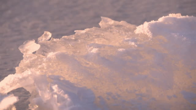 omiwatari, a natural phenomenon on lake suwa, japan - light natural phenomenon stock videos & royalty-free footage