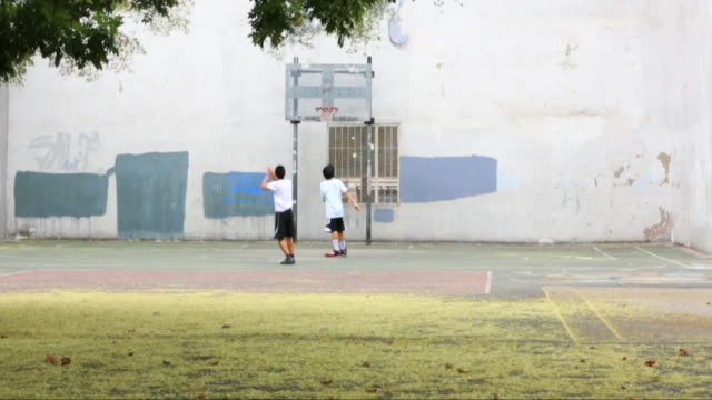a 1 on 1 game of basketball with a free throw - 2014 stock videos and b-roll footage
