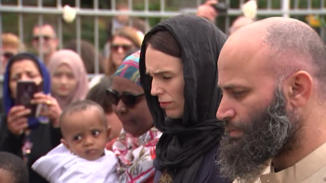 on 15 march 2019 a gunman shot praying muslims at masjid al noor mosque and linwood islamic centre in christchurch new zealand resulting in multiple... - christchurch stock-videos und b-roll-filmmaterial