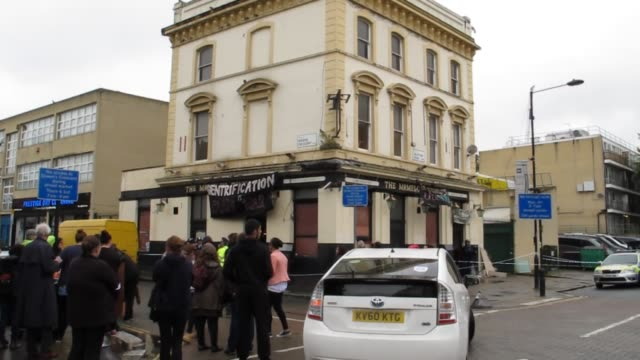 on 5th of october 2015 around midday squatters were evicted from disused the mamelon tower pub at the corner of grafton road and queen's crescent in... - midday stock videos & royalty-free footage