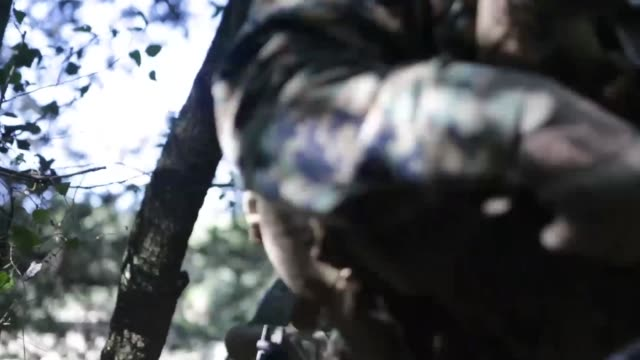 on 8 july, 2014 marines attached to special purpose marine air-ground task force crisis response from 3rd battalion, 8th marine regiment and... - französische armee stock-videos und b-roll-filmmaterial