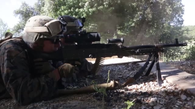on 8 july 2014 marines attached to special purpose marine airground task force crisis response from 3rd battalion 8th marine regiment and... - battalion stock videos and b-roll footage