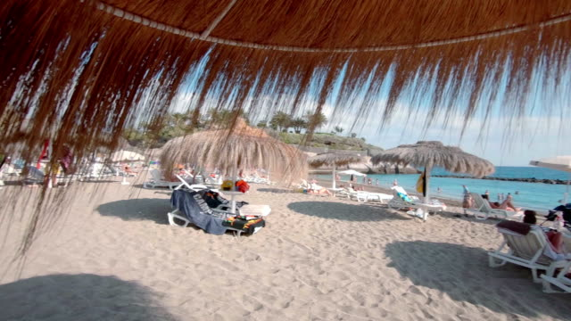On a beach in Tenerife