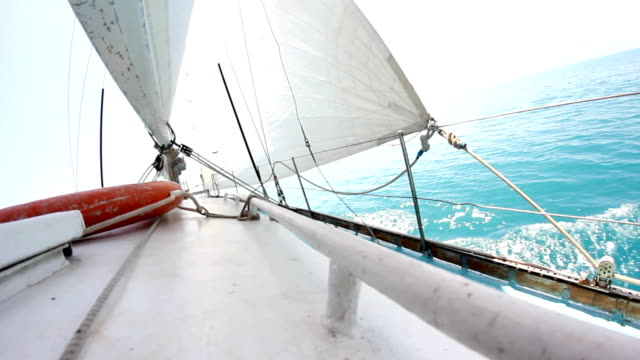 on a sailing boat - roped off stock videos & royalty-free footage