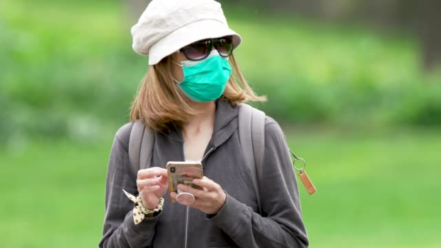 on a sunny day people exercising in manhattan's central park amid the outbreak of the coronavirus disease some wore a protective face mask and... - active lifestyle stock videos & royalty-free footage