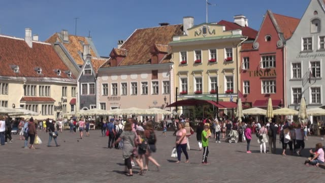 On a sunny day With the square packed with tourists many from cruise ships that visit the city