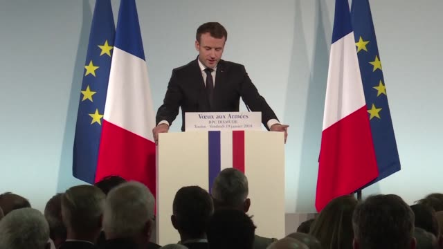 On a visit to a naval base to offer New Year's greetings to armed forces French President Emmanuel Macron said he believes in a military victory...