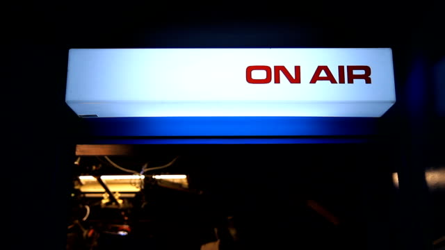 on air live sign - radio studio stock videos & royalty-free footage