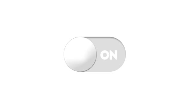 on and off switch toggle animaiton - matte finish stock videos & royalty-free footage