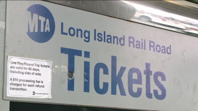 wpix on april 08 2014 in baldwin new york - long island railroad stock videos & royalty-free footage