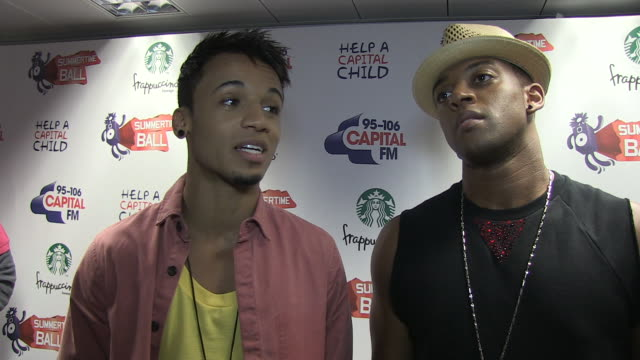 stockvideo's en b-roll-footage met jls on being veterans of the summertime ball the importance of radio their film at the capital fm summertime ball at london england - jongensband