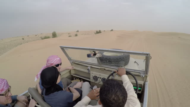 stockvideo's en b-roll-footage met on board a vehicle in the dubai desert, dubai, united arab emirates, middle east - toerisme