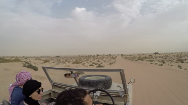 on board a vehicle in the dubai desert, dubai, united arab emirates, middle east - tourism stock videos & royalty-free footage