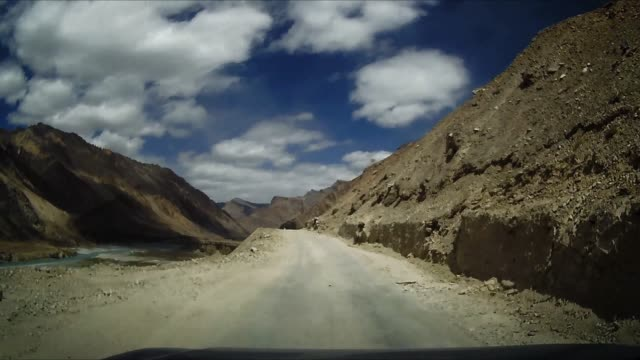 On board camera view : Narrow Coastal Road