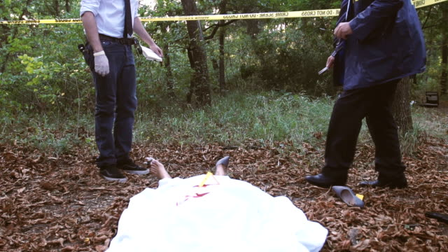 fbi on crime scene - gory of dead people stock videos & royalty-free footage