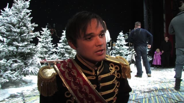 on doing panto on how musical theatre has helped him prepare for it how he feels working with dialogue interview gareth gates at piccadilly theatre... - pantomime stock videos and b-roll footage