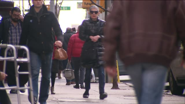 on february 23 2014 in new york city - wetterstation stock-videos und b-roll-filmmaterial