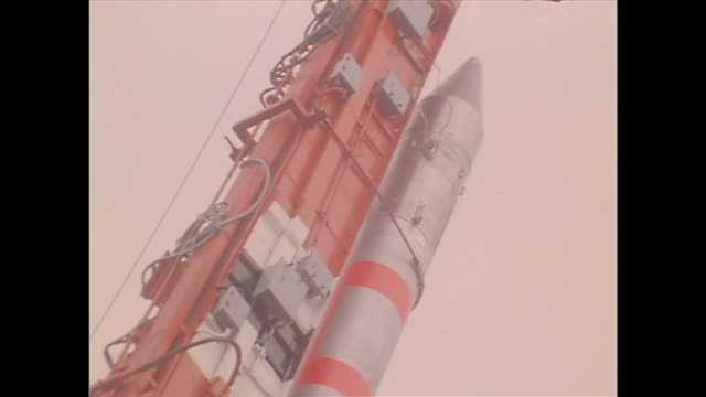 on february 6 a prelaunch rehearsal of the satellitecarrying rocket lambda 4s no5 was conducted by the university of tokyo the first japanese... - 科学技術点の映像素材/bロール