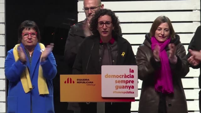 On her final day of campaigning pro independence ERC candidate Marta Rovira calls on her Catalonian supporters to turn out and vote as her party's...