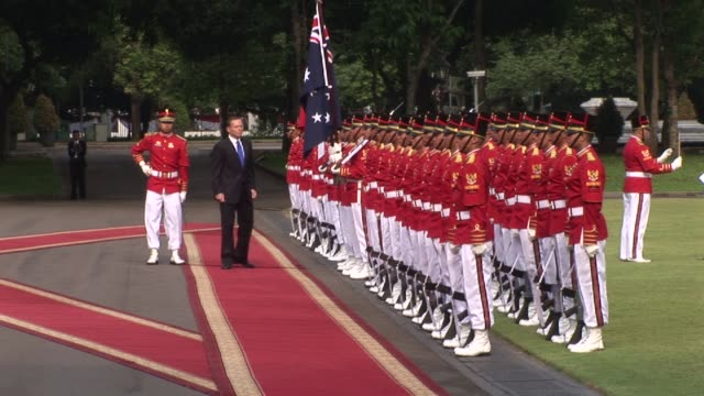 On his first overseas trip since taking office Australias new Prime Minister Tony Abbott and Indonesian President Susilo Bambang Yudhoyono on Monday...