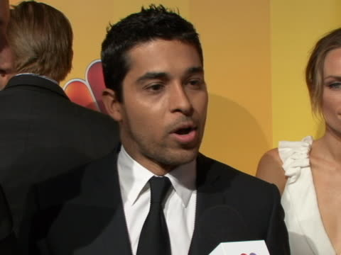 on his new show awake sot every character makes their choices in every reality my character specifically, i'm really excited because i'm an officer... - wilmer valderrama stock videos & royalty-free footage