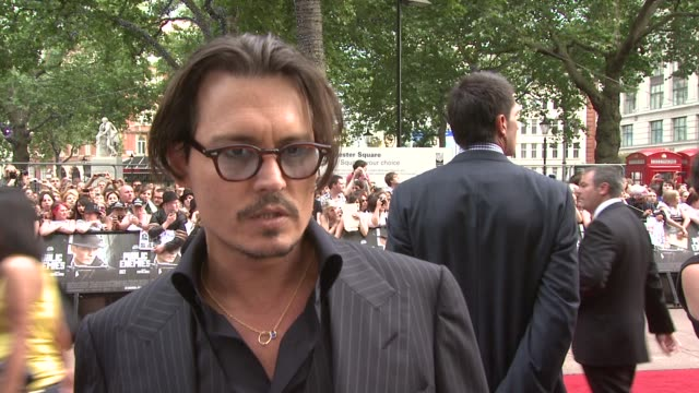 on his reaction to the death of Michael Jackson at the Public Enemies European Premiere at London England