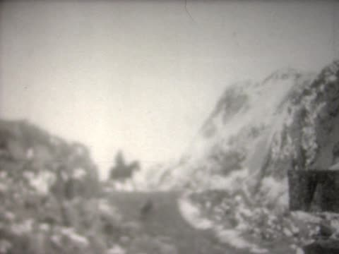1929 on horseback though snow-capped andes - exploration stock videos & royalty-free footage