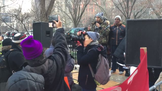 On January 16 2017 The Citywide Alliance Against Displacement held a rally at City Hall to demand Mayor de Blasio step down for promoting racist...