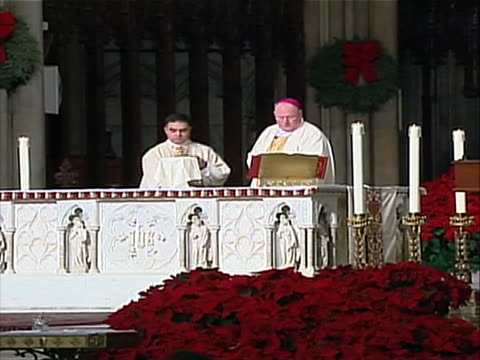 stockvideo's en b-roll-footage met pope on january 6th 2012 pope benedict xvi named 22 new cardinals announcing he will elevate them in a formal ceremony february 18 2012 among them... - religion or spirituality
