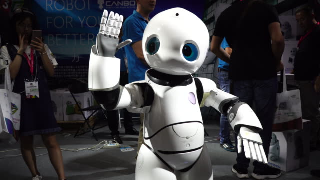 on jul 8th beijing international consumer electronics expo was held in beijing china national convention center - exhibition stock videos & royalty-free footage