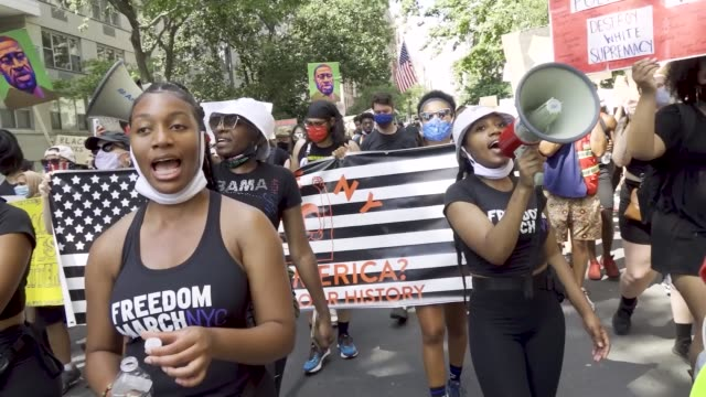 on july 4 anti-4th of july activist rally at madison square park in downton manhattan. the event was organized by freedom march nyc a protest group... - non us location stock videos & royalty-free footage